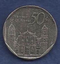 Buy CUBA 50 Centavos 1994 Cathedral de la Habana