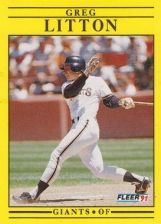 Buy 1991 Fleer #266 Greg Litton