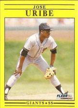 Buy 1991 Fleer #275 Jose Uribe