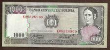 Buy Bolivia 1000 Pesos 1982 Banknote K08528965, - Padilla/House of Liberty P-167