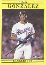 Buy 1991 Fleer #286 Juan Gonzalez