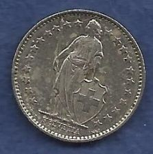 Buy Switzerland 1/2 Franc 1980 - Standing Helvetia with Lance and Shield