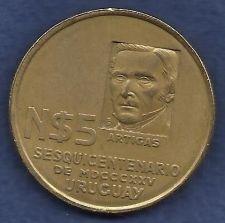 Buy Uruguay 5 Pesos 1975 Coin,Sesquicentennial Commemorative 150 Years Revolutionary