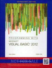 Buy Programming with Microsoft Visual Basic 2012 6th sixth INSTRUCTOR'S EDITION Diane Zak