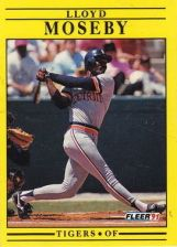 Buy 1991 Fleer #344 Lloyd Moseby