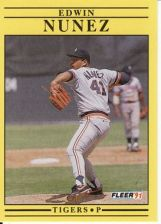Buy 1991 Fleer #345 Edwin Nunez