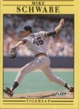 Buy 1991 Fleer #351 Mike Schwabe