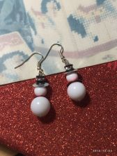 Buy Christmas Girls Snowman Hand Beaded Earrings