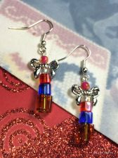 Buy Christmas Stack Of Presents Hand Beaded Earrings