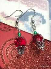 Buy Christmas Cupcake Hand Beaded Earrings