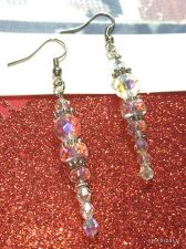 Buy Christmas Icicle Hand Beaded Earrings
