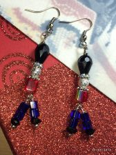Buy Christmas Marching Soldier Nutcracler Hand Beaded Earrings