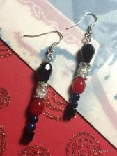 Buy Christmas Soldier Nutcracler Hand Beaded Earrings
