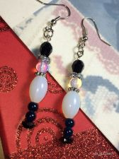 Buy Christmas Moonstone Nutcracler Hand Beaded Earrings