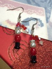 Buy Christmas Santa Claus Hand Beaded Earrings