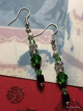 Buy Christmas Santa Helper Elf Hand Beaded Earrings