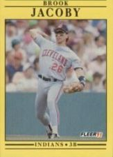 Buy 1991 Fleer #369 Brook Jacoby