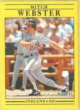 Buy 1991 Fleer #384 Mitch Webster