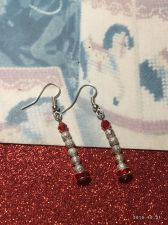 Buy Christmas Stardust Snowball Hand Beaded Earrings