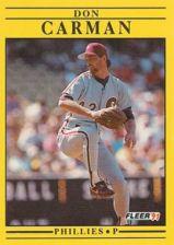 Buy 1991 Fleer #390 Don Carman