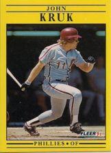 Buy 1991 Fleer #402 John Kruk
