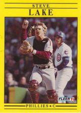 Buy 1991 Fleer #403 Steve Lake