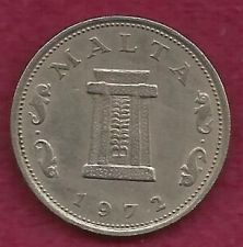 Buy MALTA 5 CENTS 1972 COIN - DOLPHIN COIN - Altar in the Temple of Hagar Qim