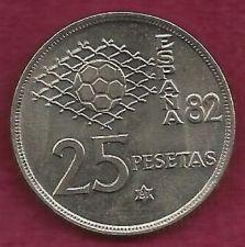 Buy SPAIN 25 Pesetas 1980 COIN - Spain / World Cup Soccer Games - Engraved Rim