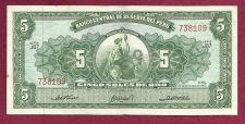 Buy PERU 5 SOLES DE ORO 1963 Banknote 738109