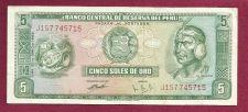 Buy Peru 5 Soles de Oro 1974 Banknote J157745715 - Inca Chief/Fort