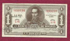 Buy Bolivia 1 Peso 1928 Banknote 059196