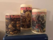 Buy Custom Made Iron Maiden Flamless Candles-Vanilla Scented