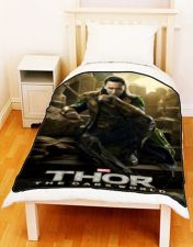 Buy LOKI Thor The Dark World TOM HIDDLESTON Custom Cotton Fleece Blanket Christmas Gift