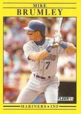Buy 1991 Fleer #445 Mike Brumley