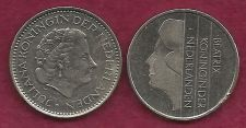 Buy SPECIAL: Type Set - Two One Guilder Coins (Netherlands) 1978 & 1992 - TWO COINS !
