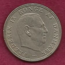 Buy DENMARK Crown 5 KRONER 1961 COIN - Large Coin over 50 Years Old! Frederick IX