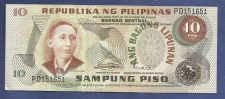 Buy Philippines 10 Sampung Piso 1949 Banknote #PD151651