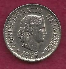 Buy Switzerland 10 Rappen 1966 Libertas Goddess of Liberty Coin