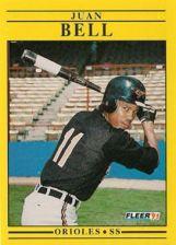 Buy 1991 Fleer #468 Juan Bell