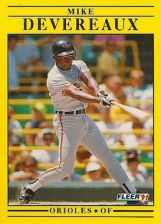 Buy 1991 Fleer #469 Mike Devereaux