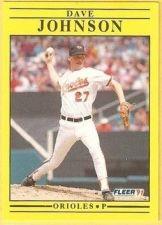 Buy 1991 Fleer #479 Dave Johnson