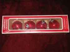 Buy Set of Antique East German Glas Christmas Ornaments, Set of 4 in Original Box!