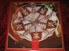 "Buy GORHAM ""Holiday Traditions"" Angels of Peace 13.5"" Crystal Platter NEW IN BOX"
