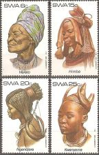 Buy SW Africa: Traditional headdresses (1982), MNH, Complete Set