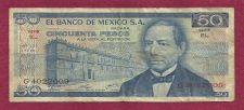 Buy Mexico 50 Pesos 1981 Banknote G4022009