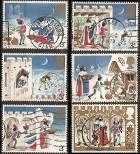 Buy Great Britain: Christmas Issue, 1973, Used, Complete Set