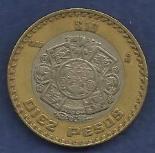 Buy MEXICO 10 Pesos 1998 Bimetallic Coin