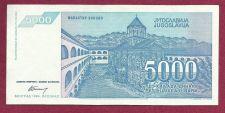 Buy YUGOSLAVIA 5000 DINARA 1994 Banknote AA 9038420 UNCirculated - Socialistic Republic