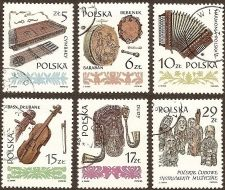 Buy Poland: Musical Instruments (1984), CTO Complete Set