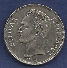 Buy VENEZUELA 5 Bolivares 1977 Libertador Coin